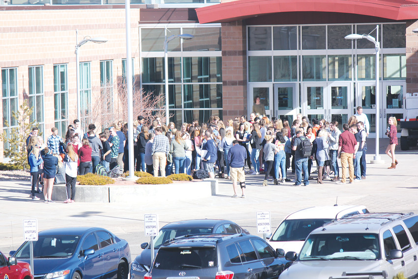 Students from Legend High School walked out at 10 a.m. in a student-organized show of support for lives lost in school shooting across the United States, as well as to raise awareness for gun safety issues.