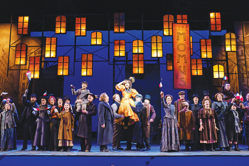 "The cast and chorus of Opera Colorado's season-opening production of Puccini's ""La Bohème,"" November 2017 at the Ellie Caulkins Opera House."
