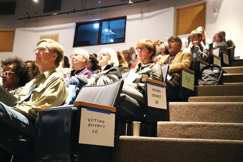Roughly 250 Democrats gathered at Chaparral High School in Parker on March 24 for the county assembly, where delegates for the state assembly in April, as well as candidates for local and statewide races, were selected.