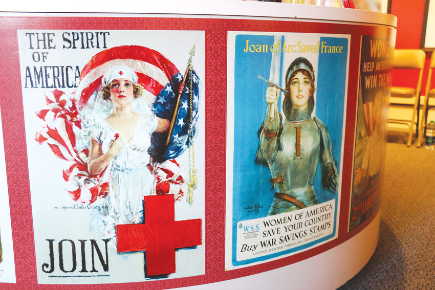 Example of some of the World War I posters featuring women, on display as part of the Center for Colorado Women's History and its new exhibit.