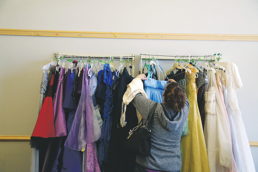 Over 120 dresses were donated to the Arvada Library Prom Swap.