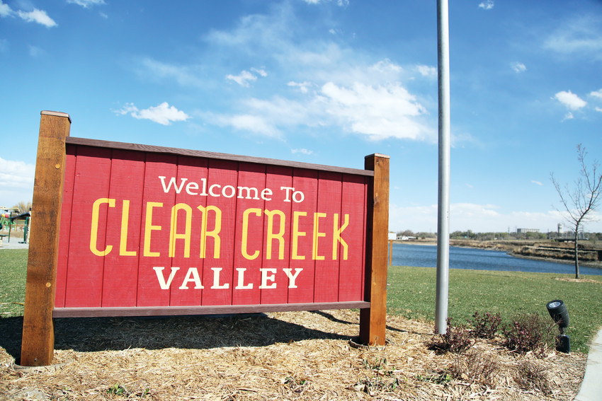Clear Creek Valley Park is open to the public at 58th and Tennyson, featuring playground areas suitable for all ages.