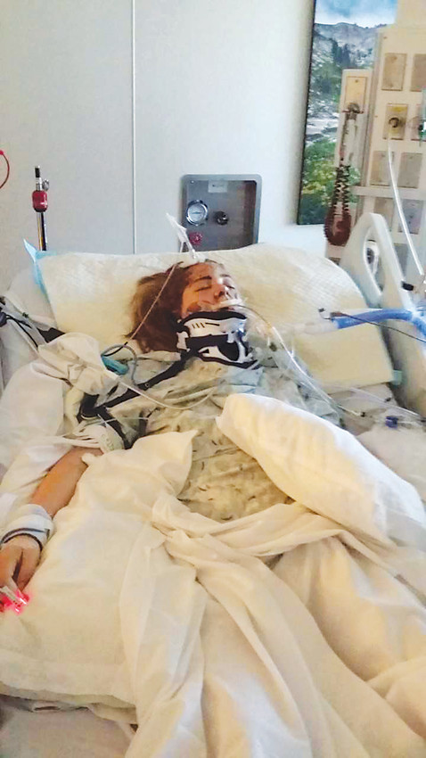 Morgan Koetter clings to life in a medically-induced coma at Parker Adventist Hospital, following a Dec. 17, 2017 auto accident that left her with extreme injuries, including a severe head injury.