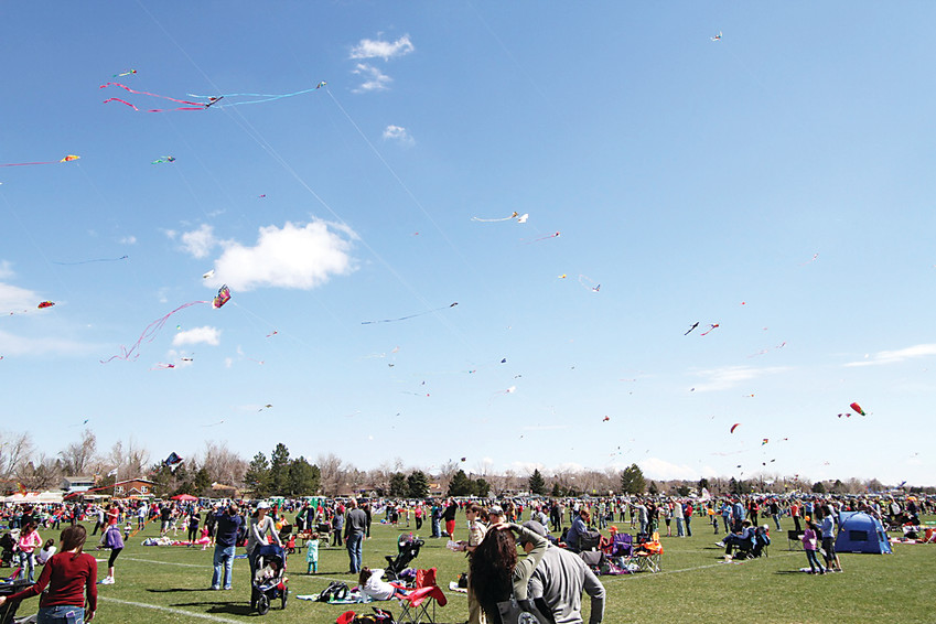 The annual Arvada Kite Festival features professional kite flying exhibits and more April 8 at Stenger Sports Complex in Arvada.