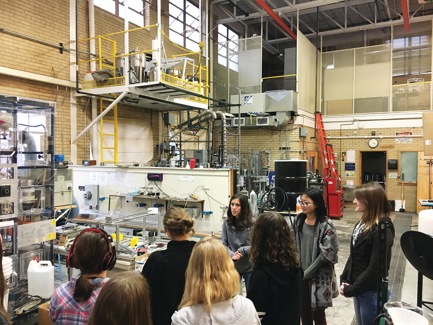 The South Metro High School Chapter of the Girls in STEM club enjoy a private tour of the Colorado School of Mines' chemical engineering lab. The club was founded in 2014 and exists to inspire middle and high school-aged girls to visualize and empower them to pursue STEM careers. Learn more at www.gstemdenver.org.