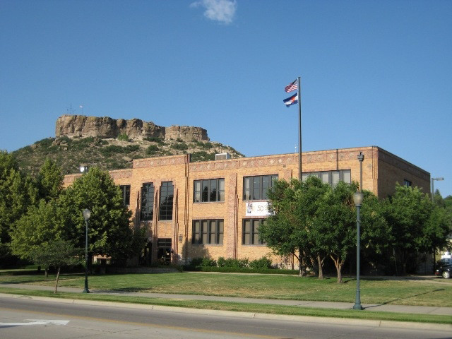 Douglas County School District's administration building, at 620 Wilcox St., Castle Rock.