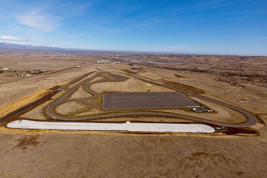The TIM site, the lighter strip of concrete pictured above, will provide traffic incident management training for agencies throughout the state.