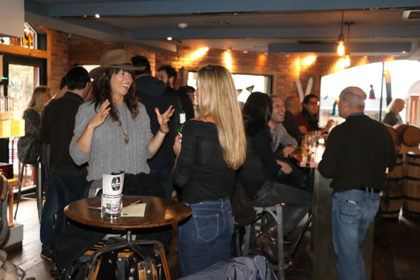 Filmmakers, friends and fans gathered at 10th Avenue Whiskey on the afternoon of April 6 for a mixer event.