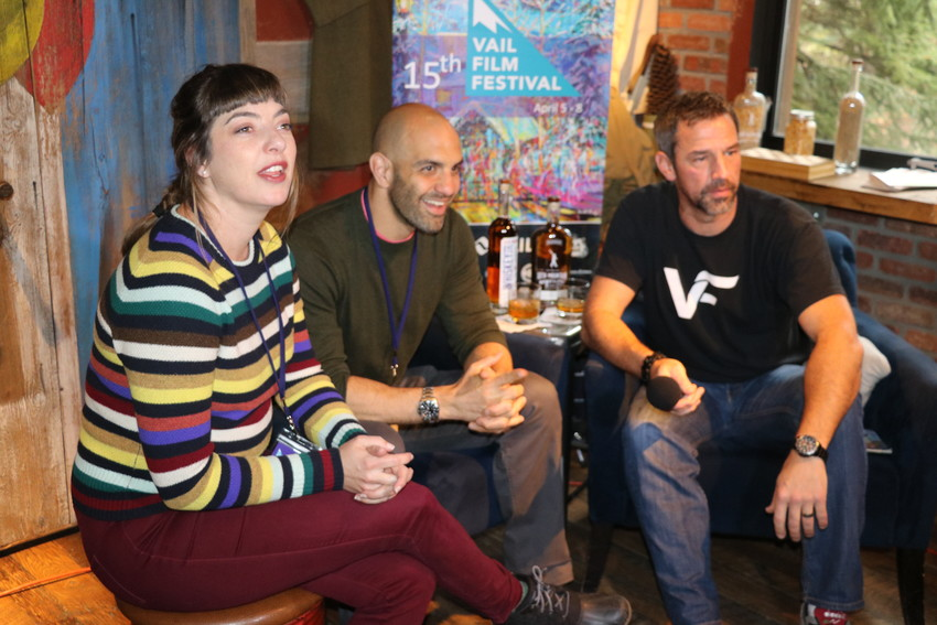 "Krisin Campbell-Taylor, producer of the short film ""Internet Gangsters,"" and writer/actor Eddie Alfano speak with Vail Film Festival host Bill LaVasseur."