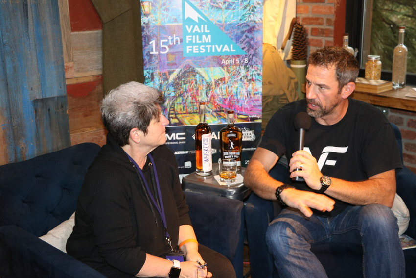 "Vail Film Festival host Bill LaVasseur interviews Robin Kampf, director, cinematographer and editor of the documentary, ""Love Wins."""