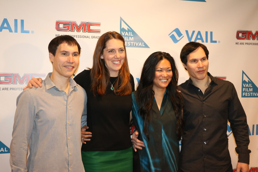 The leadership team behind the 15th annual Vail Film Festival. From left, Executive Directors Sean Cross and Megan Musegades, Festival Director Corinne Hara, and Executive Director Scott Cross.