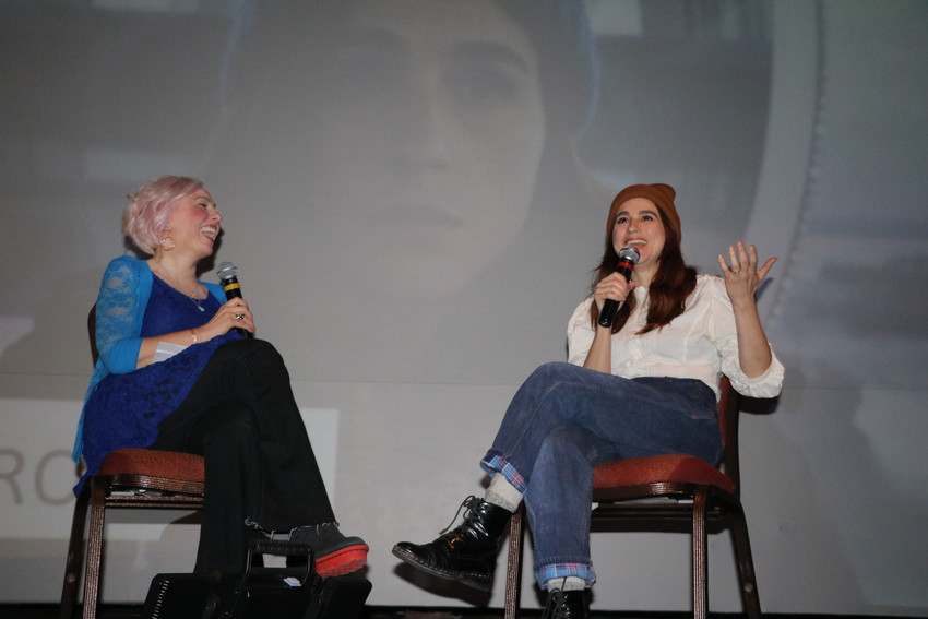 Documentary program director Erin Sheppard interviews Aya Cash after she received the Excellence in Acting Award.