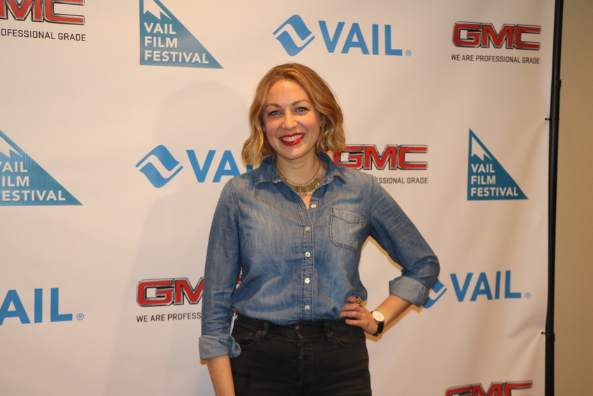"Writer/director of ""Mary Goes Round"" Molly McGlynn at the awards ceremony for the 15th annual Vail Film Festival."