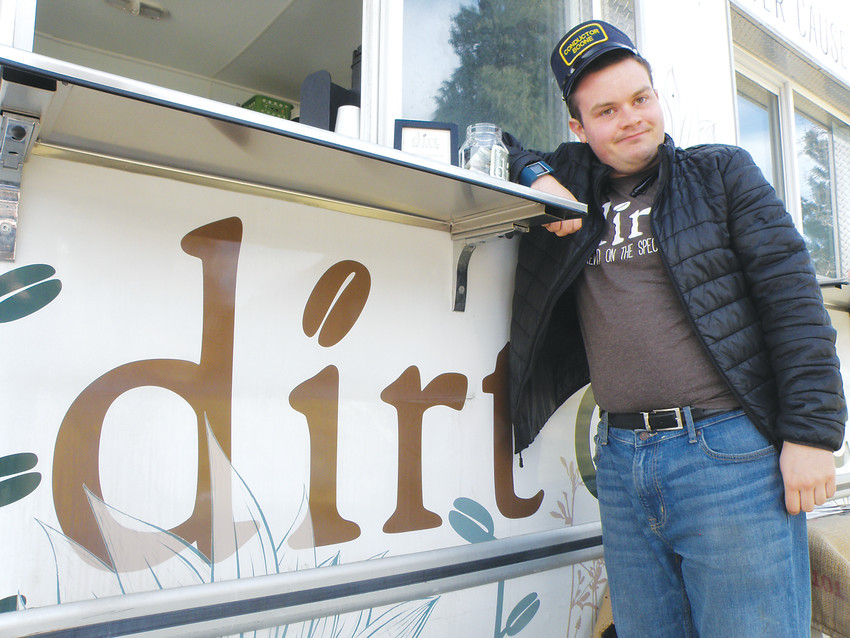 Daniel Boone, a longtime Dirt Coffee employee, said making people happy by serving them coffee makes him feel like Santa Claus. Dirt, a van-based coffee company which trains and employs people on the autism spectrum, will open its first brick and mortar shop in May.