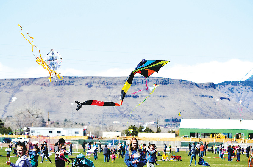 Arvada Kite Festival attendees let their kites take flight Sunday, April 8, at Stenger Soccer Complex. The annual event drew all ages from the area.