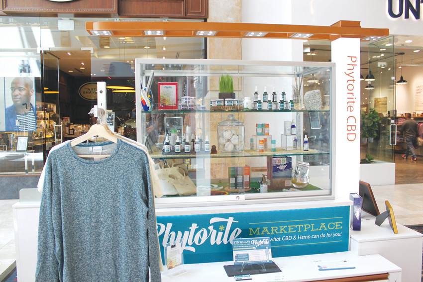 The new Phytorite kiosk in Park Meadows Mall draws attention from shoppers, as the first of its kind to sell CBD products in the mall.