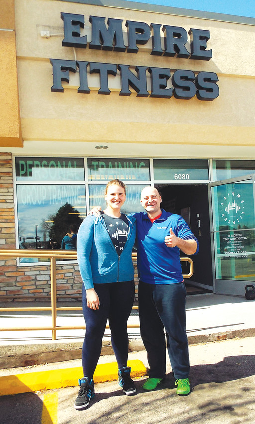 Brother and sister Jeremy and Amanda Weber stand outside their Westminster fitness studio. They pair opened Empire Fitness in October.