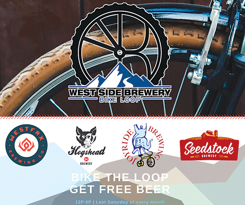 Four local breweries joined together to create the West Side Brewery Bike Loop, which will be hosted the last Saturday of the month, from April to September.
