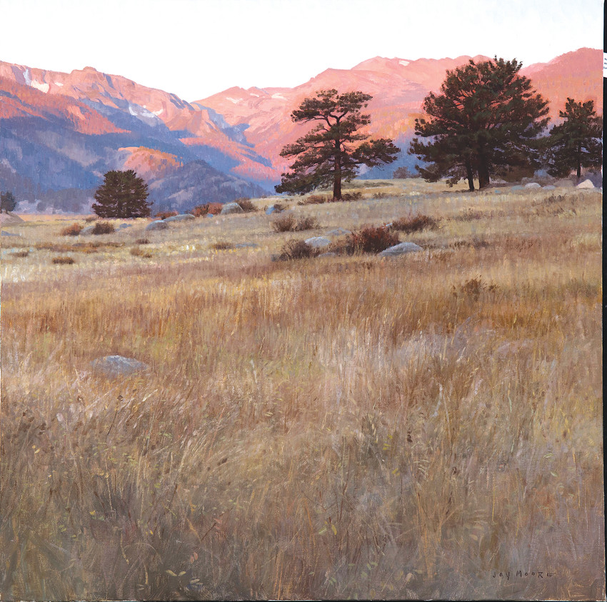 Jay Moore's recent paintings of Colorado will be exhibited at his Parker studio in May.