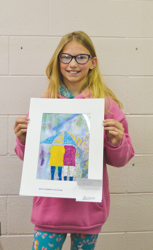 Olivia Wagner, a fourth-grader, imitated Claude Monet's style and her love of spring colors to land a blue ribbon.
