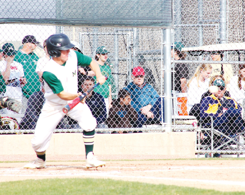 Mountain Vista's Zach Pashke likes to use his ability to bunt and his speed to get on base.