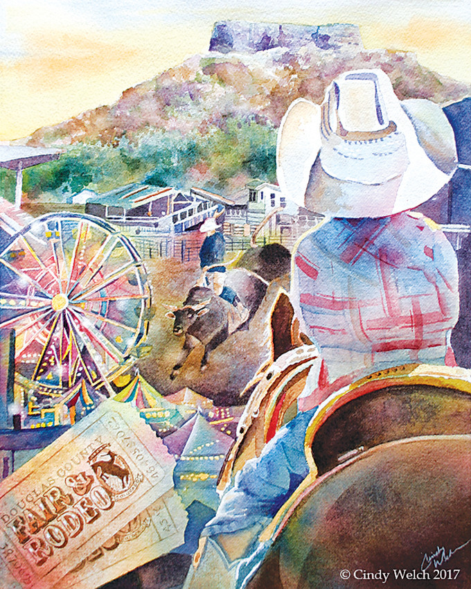 Cindy Welch's poster for the 2018 Douglas County Fair will be available in a limited, signed print.