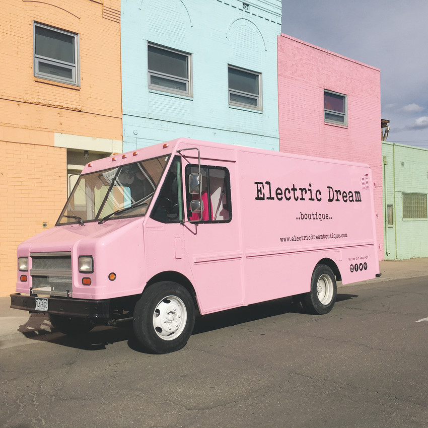The pink Electric Dreams Boutique truck is one of nine retail-oriented trucks joining their gourmet brethren for Northglenn's Food Truck Carnival May 11 through 13. The boutique specializes in women's clothing.