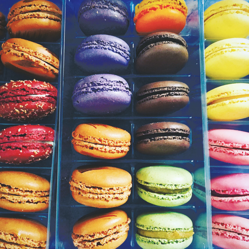 Multi-colored macaroons are some of the treats offered at the Lucky Mary's Baking Company.
