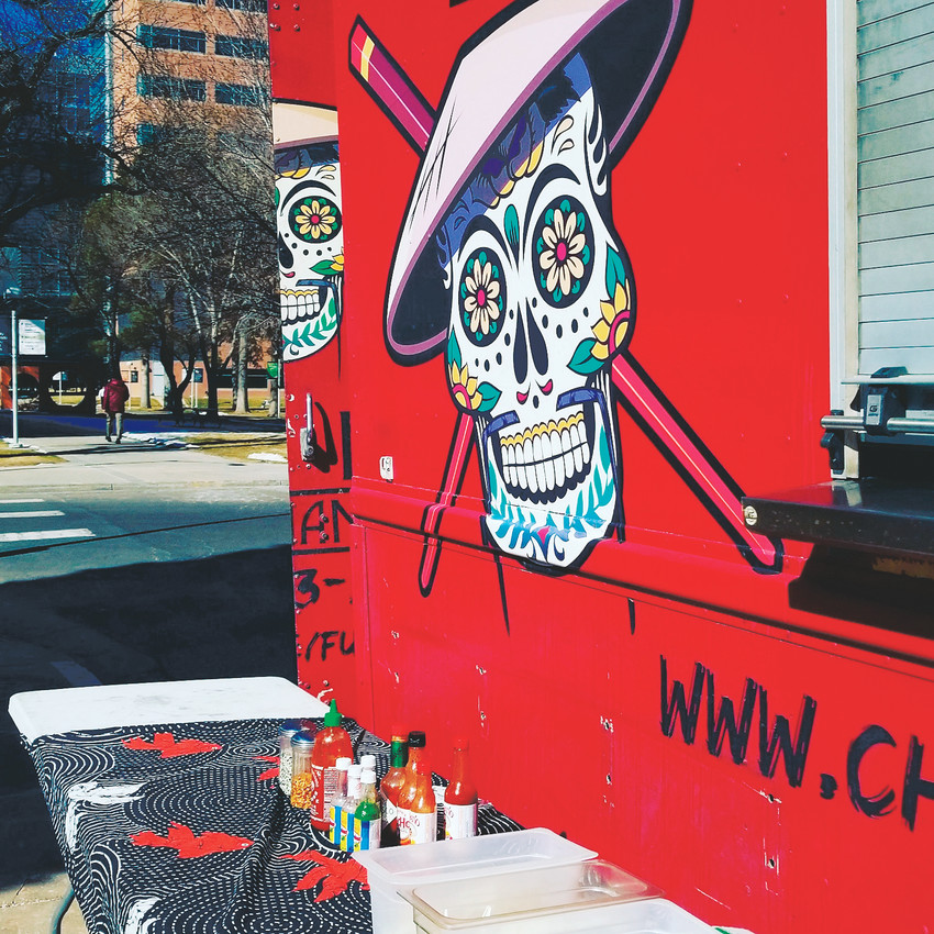 Featuring Asian-inspired tacos, burritos and Koren-style rice bowls with chipotle and ancho  chili spiked chicken, Chuey Fu's is a spicy stop on for peole attending Northglenn's Food Truck Carnival.