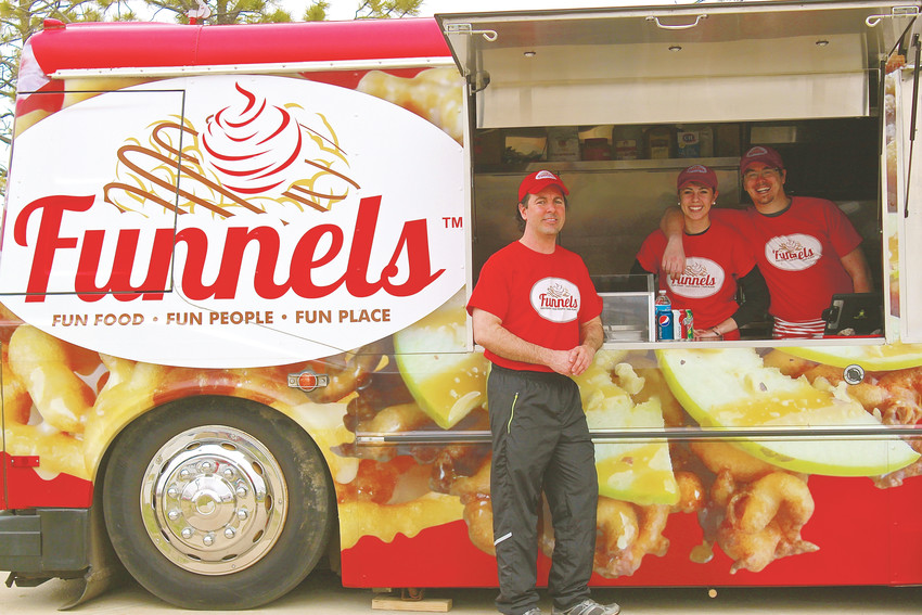 Funnels founder Steven Seidel said the inspiration for his Funnels food truck was warm summer nights and carnival fare. He offers traditional funnel cakes with a variety of toppings.
