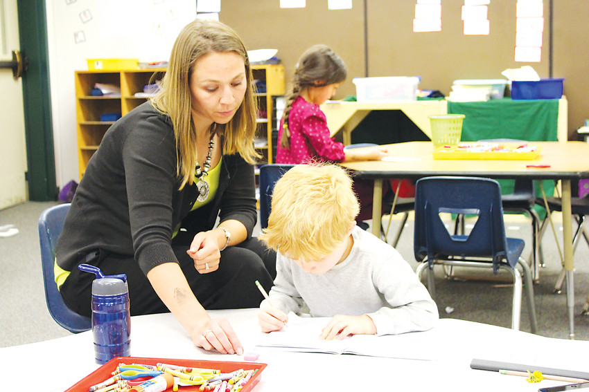 Pine Lane Elementary School in Parker offers half-day kindergarten for free and full-day tuition kindergarten.