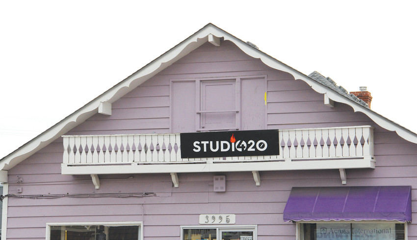 Studio 420 at 3995 S. Broadway in Englewood in July. The business, which challenged a cease-and-desist order from the city, announced it will move to another location.