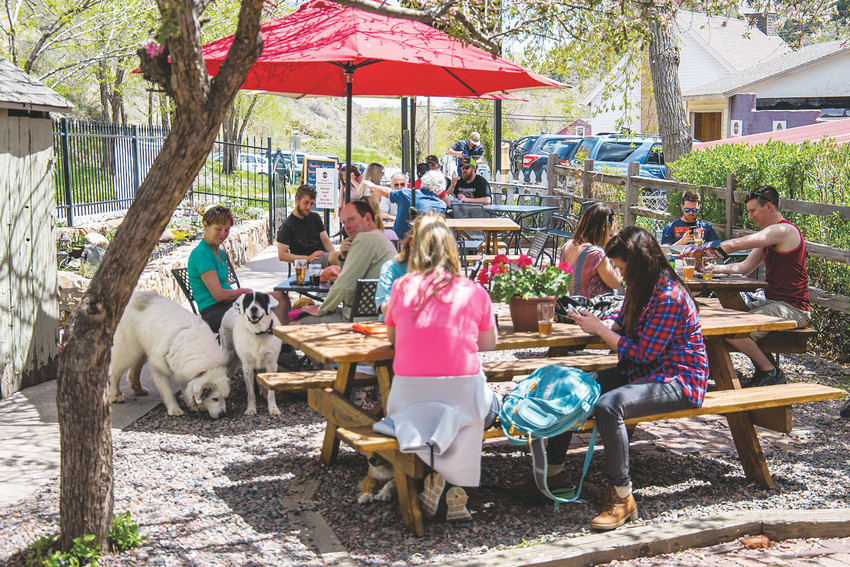 The Red Rocks Beer Garden features 100 percent Colorado beers, wines and foods, and offers a historic cottage and garden for customers' drinking pleasures.