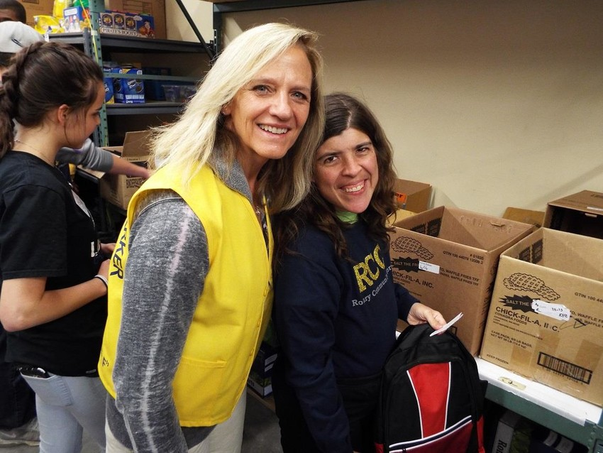 Cheryl O'Brien, left, is an active member of the Cherry Creek Valley Rotary Club in Parker and spends time volunteering in various capacities in keeping with the Rotary's motto, Service Before Self.