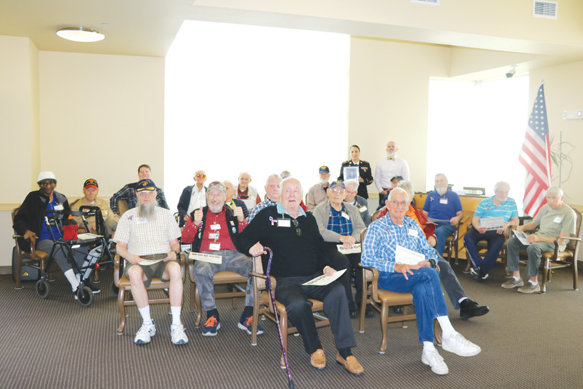 The 25 veterans celebrated at the Senior Resource Center's Memorial Day event on May 11.