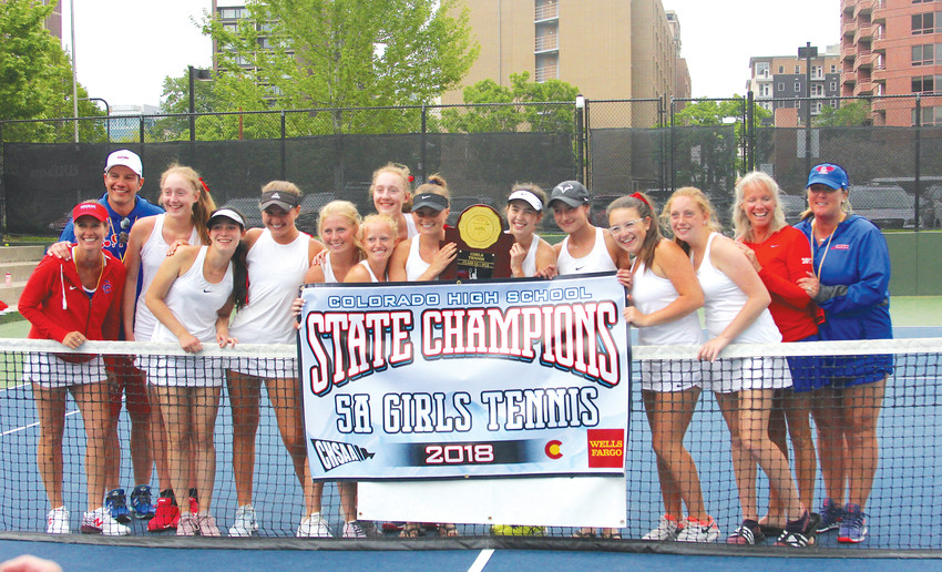 Cherry Creek, with seven freshman among its 11 players, won its second straight Class 5A state tennis championship and the 34th overall for the program at the two-day tournament which ended May 11 at the Gates Tennis Center.