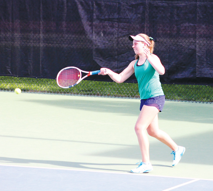 Veronika Bruetting of ThunderRidge finished third in No. 1 singles at the Class 5A girls state tennis championships on May 11 at the Gates Tennis Center. Bruetting lost to Rock Canyon's Meghna Chowdhury in the semifinals but rebounded with a 6-2, 6-3 win over Cherry Creek's Deena Abdulloeva in the third place match.