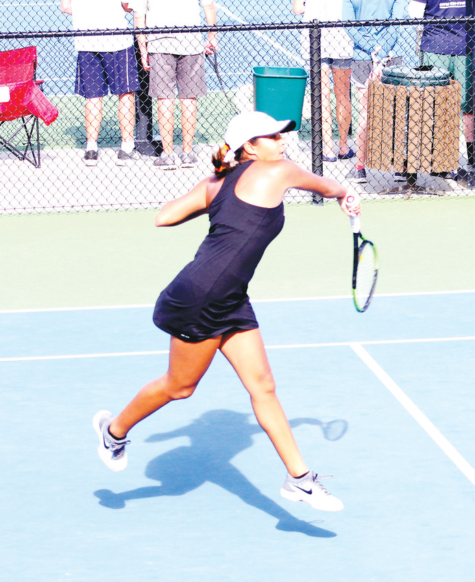 Meghna Chowdhury made Rock Canyon history when the sophomore became the first player in school history to reach the finals of the girls state tennis championships. Chowdhury lost to Ky Eaton of Poudre, 6-4, 6-4, in the No. 1 singles championship match on May 11 at the Gates Tennis Center.