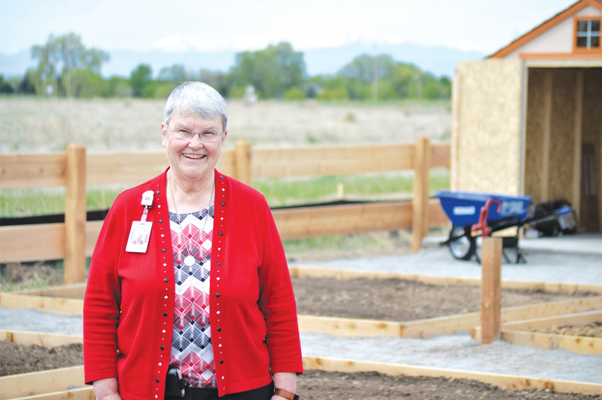 Sister Pat Hayden,  vice president of Mission Integration for Westminster's St. Anthony North Health Campus, stands in the middle of the hospital's new community 