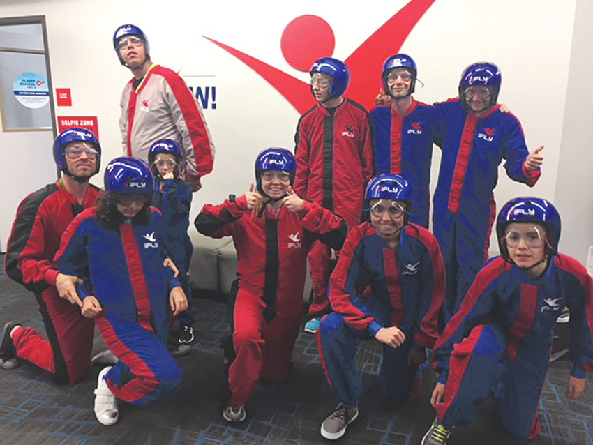 Attendees of the All Abilities Night at iFLY in Lone Tree, were all smiles after spending time flying in the vertical wind tunnel. The event was held for individuals with special physical and cognitive needs.
