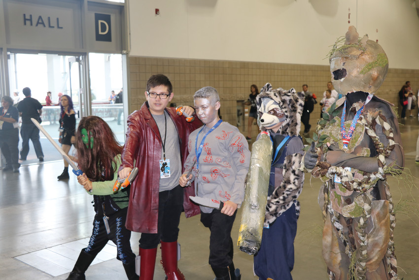 Cosplayers dressed as the cast of Marvel's Guardians of the Galaxy at last year's Denver Comic Con.