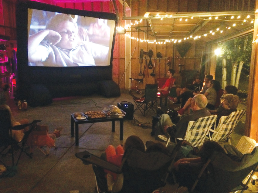 An inflatable movie screen is one of the item neighbors have access to through the program.