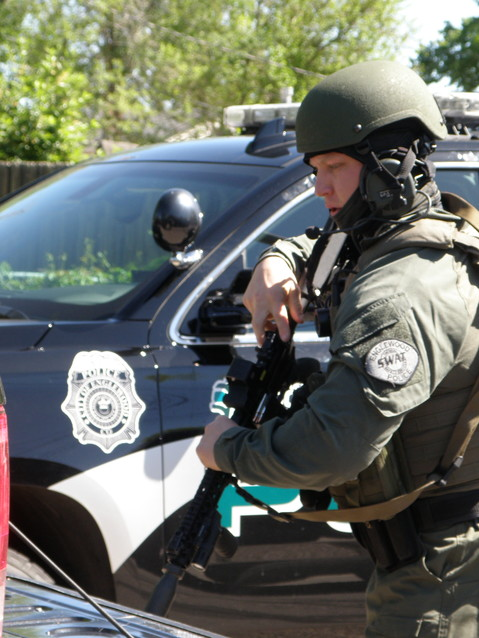 The Englewood police are on scene at an armed standoff The Englewood police are on scene where a barricaded man may be armed in the 4100 block of South Galapago Street on Wednesday morning, May 16.