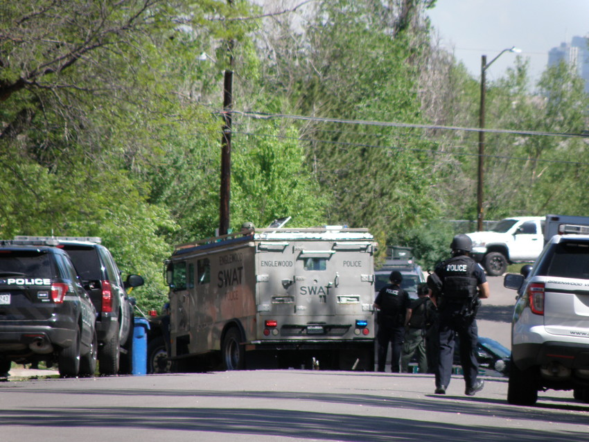The Englewood police are on scene where a barricaded man may be armed in the 4100 block of South Galapago Street on Wednesday morning, May 16.
