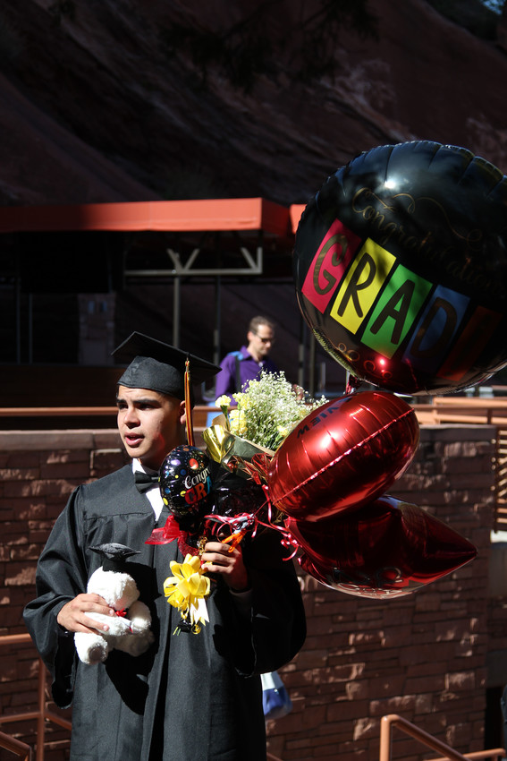 Families rushed to congratulate graduates as the 2018 Castle View High School graduation ceremony came to a close, sharing tears and laughs.