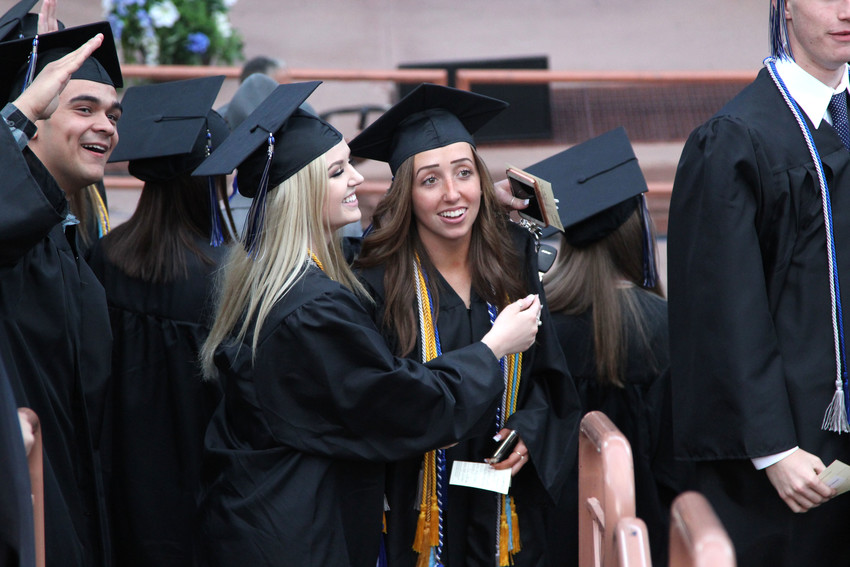 Seniors laughed and cheered throughout the 2018 Highlands Ranch High School graduation ceremony on May 16.