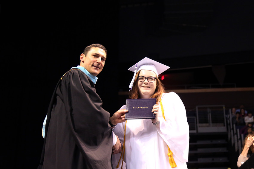 Katie Dalh graduated in the top ten percent of the graduating class at Arvada West High.