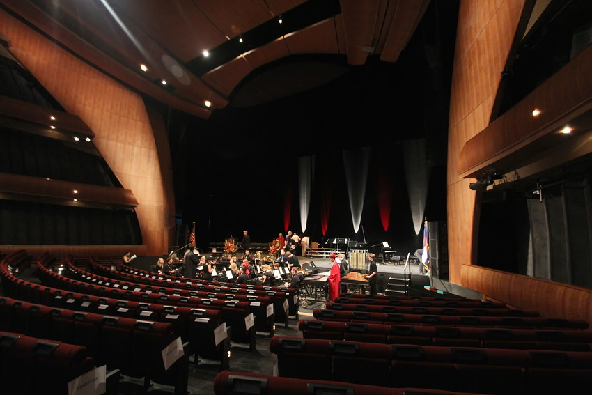 The Ellie Caulkins theater prior to the Arvada High School graduation ceremony, May 18.