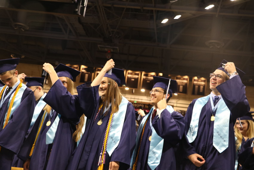 The Ralston Valley graduating class of 2018 turn their tassels and officially become graduates at the CU Events Center on May 18.