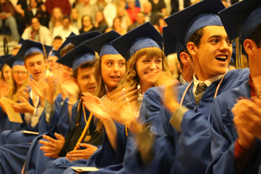 SkyView Academy's May 19 graduation is filled with laughter and smiles as students are sent off to the next chapter of life. The commencement ceremony was held in the gymnasium of the school, 6161 Business Center Dr.